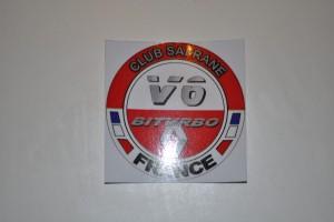 Autocollant club safrane biturbo photo 3